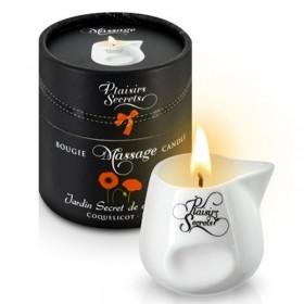 Bougie de massage gourmande Coquelicot - Plaisir Secret