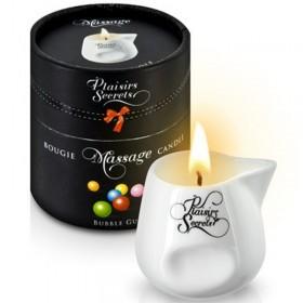 Bougie de massage gourmande bubble gum - Plaisir Secret