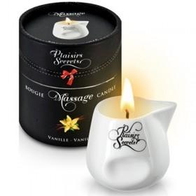 Bougie de massage gourmande vanille - Plaisir Secret